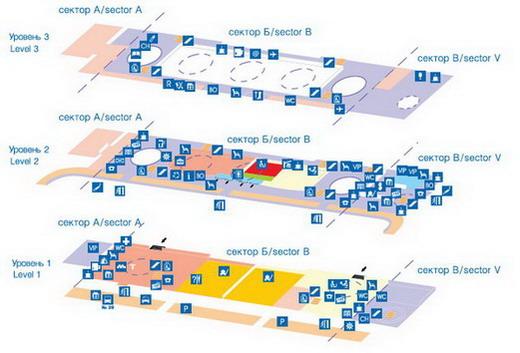 Схема выходов домодедово аэропорта